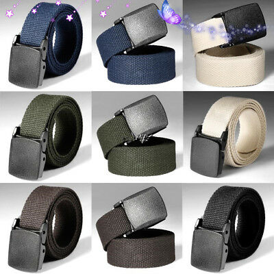 Men/'s Military Outdoor Sports Military Tactical Nylon Waistband Canvas Web Belt$