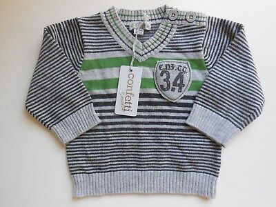 Confetti Absorba Baby Boy Quality Jumper Top Sweater Size 000 Fits 3M *New