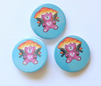 BADGES FORTNITE Game Pin Button PARTY FAVOURS Brite Teddy PACK OF 3