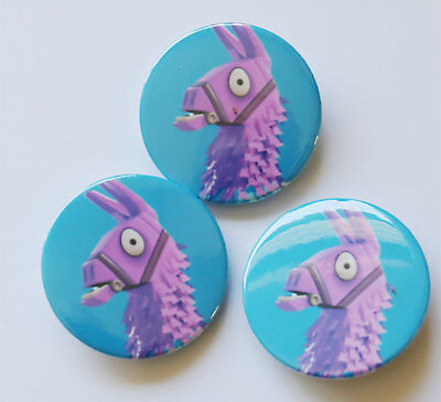 BADGE Set FORTNITE Game Pin Button PARTY FAVOURS LLAMA PACK OF 3