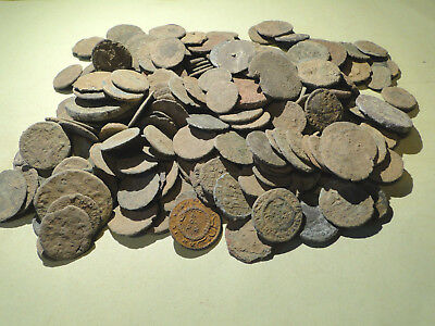10 Assorted Uncleaned and Unresearched Roman Bronze Coins