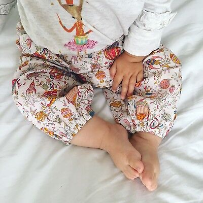 Little Annie Liberty fabric Sky High Print Baby Trousers