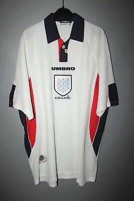 ef3e0f613 England 1997 1998 1999 Home Football Shirt Jersey Umbro World Cup  98 France