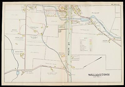 1904 Berkshire County, Ma, Williamstown, West Cemetery, Copy Plat Atlas Map