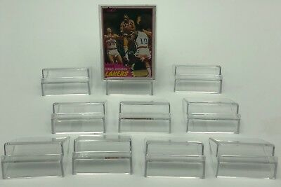(10) Clear Trading Card Display Holders Baseball Basketball Football Top Loaders