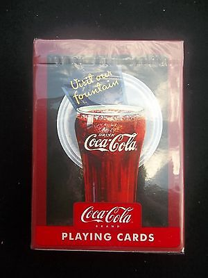 Coca-Cola Visit Our Fountain Playing Cards New Unopened Deck