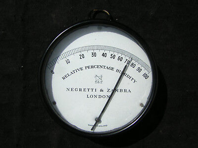 Scientific Instrument Negretti & Zambra Hygrometer Excellent Condition