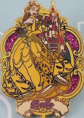 Disney Beauty and the Beast Princess Belle and her Castle pin