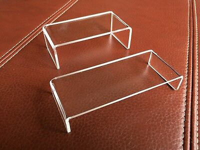 Acrylic Perspex Riser Shelf Plinths Shop Counter Display Stands [210 Options]