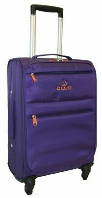 Hard shell Aerolite Pink Floral 4 Wheel Spinner Cabin Trolley Luggage Suitcase