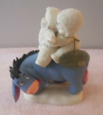 """Dept. 56 Snowbabies Guest Collection Disney/pooh """"riding With Friends"""" Eeyore"""