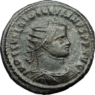 To Enjoy High Reputation In The International Market Diocletian Ae Post Reform Radiate Ancient Roman Imperial Coin