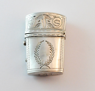 RARE Thomas Willmore Georgian Sterling Silver Etui