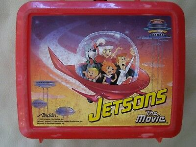 Vintage 1990 Jetsons The Movie Lunchbox, by Aladdin, Plastic, no thermos, Cool!