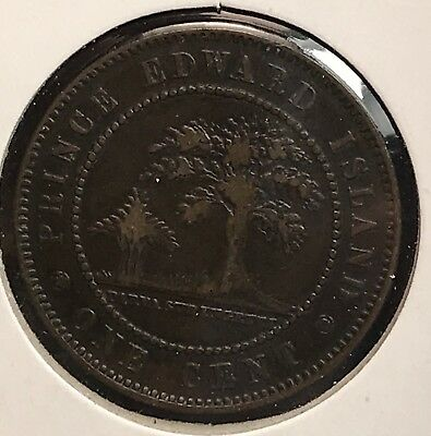 1871 Prince Edward Island One Cent Penny Large. COLLECTOR COIN FOR SET.2