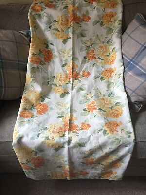 Laura Ashley Fabric Curtains, Beautiful Vintage Print Lined, Pencil Pleat