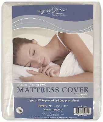 Dust Free FULL Allergy Relief Waterproof Zippered Mattress Cover / Protector !!