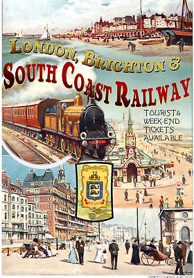 TX98 Vintage London-Europe Riviera Railway Train Travel Poster Re-print A2//A3