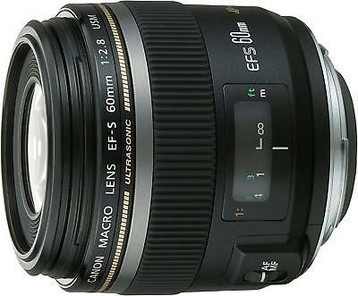 Canon EF-S60mm F2.8 Macro USM Lens 60 f2.8 For EOS w/ Tracking EMS