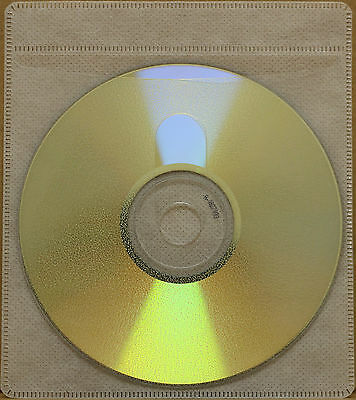 200 Generic CD/DVD Double-sided Refill Plastic Sleeve White NH