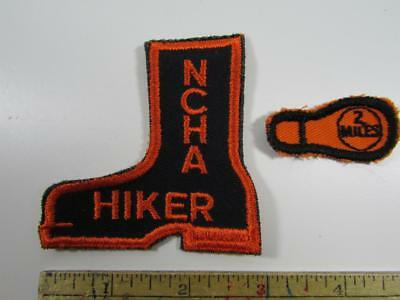 Lot of 2 Vintage National Hikers & Hikers Assoc.NCHA Patches HIKER & 2 Mile