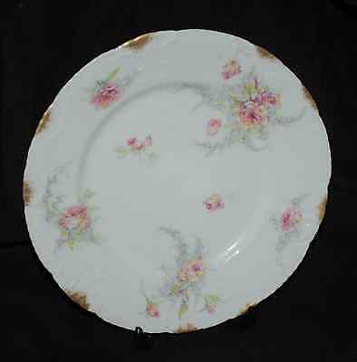 """Scalloped Theodore Haviland Limoges 9"""" Lunch Plate  EUC  Schleiger 137?"""