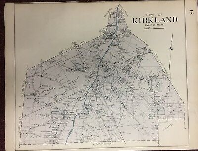 1907 Kirkland Oneida County New York Brothertown Clinton Coxes Patent Atlas Map