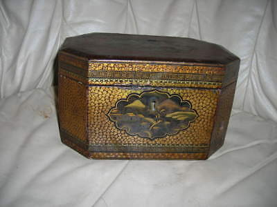 Lovely Antique 19Th C. Qing Dynasty Lacquered Chinese Tea Caddy With Boxes
