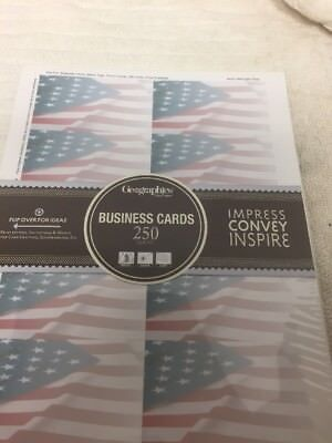 Geographics Capital Business Cards, 2 x 3.5 Inches, Flag Ivory, 250-Cards