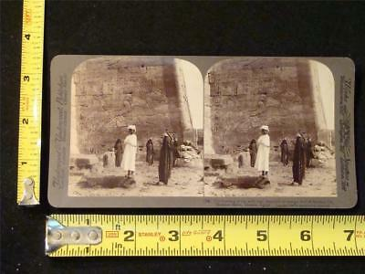 U & U Stereoview - Ramses III depicted on a Temple Wall, Thebes, Egypt, c. 1897