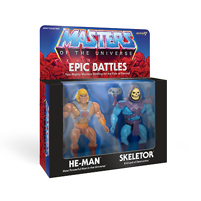 Masters of the Universe He Man Skeletor Epic Battles 2 Pack MOTU Super7 Vintage