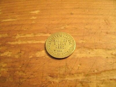 Citizen's Federal Saving's And Loan Assoc. Chicago Heights, Ill - Parking Token