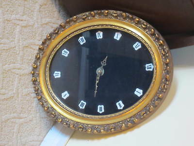 """Ornate Oval 17"""" Frame Wall Clock German Movement Made in France? Needs Repair"""