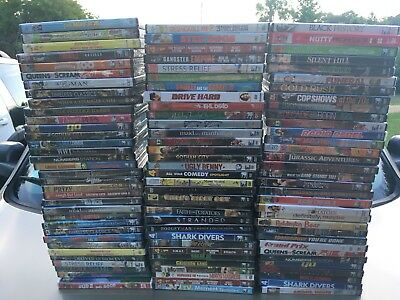 HUGE LOT of 100 Brand New & Sealed NO USED Wholesale BULK DVD Movies!
