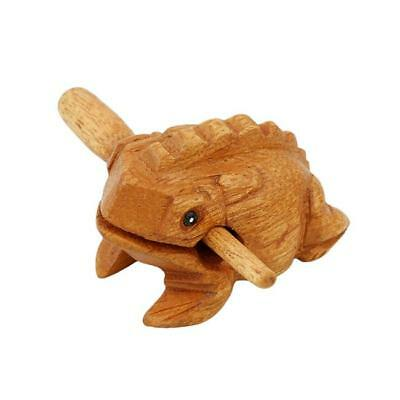 Frog Carved Wooden Croaking Instrument Musical Sound Frog Handcraft W/Stick 6L