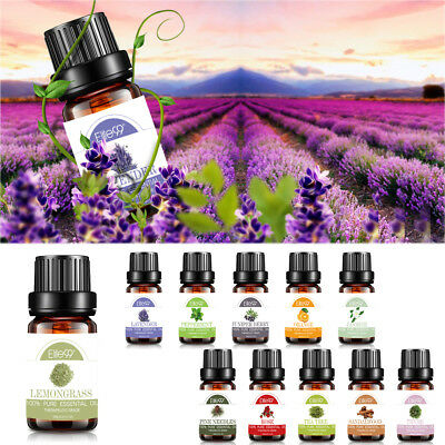 100% Pure Essential Oils 10ml - 6x 10ml Set - 6 Mixed Fragrance Lot Therapeutic