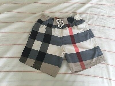 Burberry Swim Trunks Kids Size 4Y Excellent Condition!