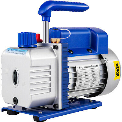 MosaicAL 3CFM1/3HP Refrigerant Vacuum Pump HVAC Single Stage 85 L/min