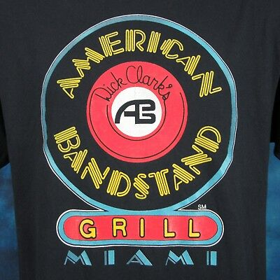 vintage 80s DICK CLARK'S AMERICAN BANDSTAND GRILL MIAMI FLORIDA T-Shirt M/L thin
