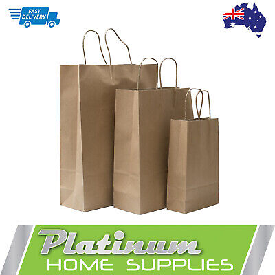 Brown Kraft Paper Gift Carry Craft  Shopping Bags with Handles Bulk  Bag