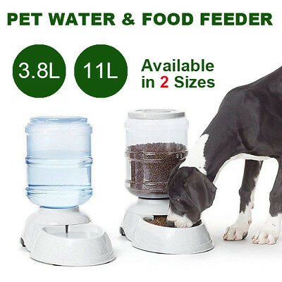 3.8/11L Automatic Pet Dog Cat Water Bowl Feeder Bottle Dispenser Plastic Large