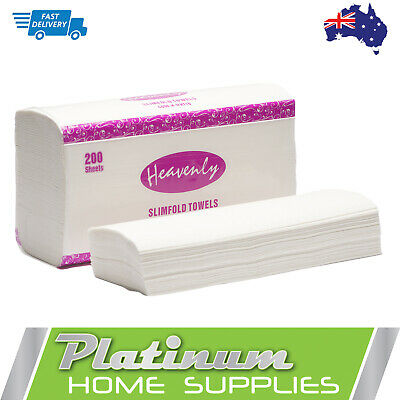 New Slimfold Paper Hand Towels Interleave Dispenser Towel Multifold 16 packs