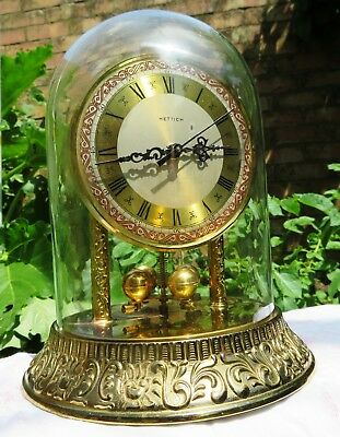 Hettich remontoire German Dome Mantel Clock Floating balance torsion anniversary