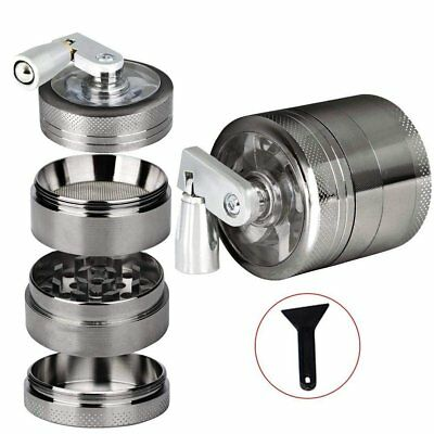 4 Piece Herb Spice Alloy Smoke Crusher 40mm Tobacco Grinder with Mill Handle