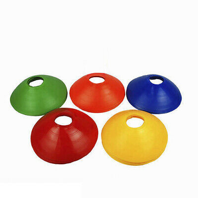 60 Pack Sports Training Discs Cones Soccer Rugby Fitness Exercise Markers AU