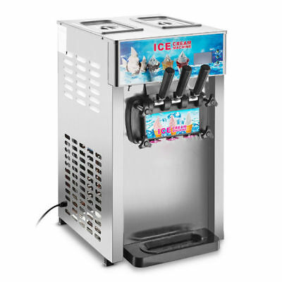 Commercial Soft Ice Cream Machine 3 Flavors Frozen Ice Cream Maker[Self Pick Up]