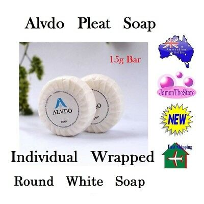 Alvdo Pleat Soap Guest Soap Individual Wrap Hotel Motel 15g Bathroom Amenities