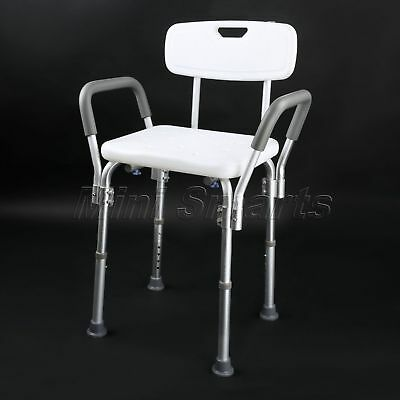 Medical Lift Shower Chair with Arms and Back Portable Bath Bench Seat Adjustable