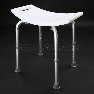 1pc Mobility Aid Tool-Free Assembly Adjustable Bath Chair Shower Seat Step Stool