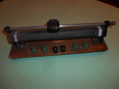 Rheostat 110 Ohms 1.7 Amp Mounted Vintage Lab Apparatus 4MM Banana Plug BERCO